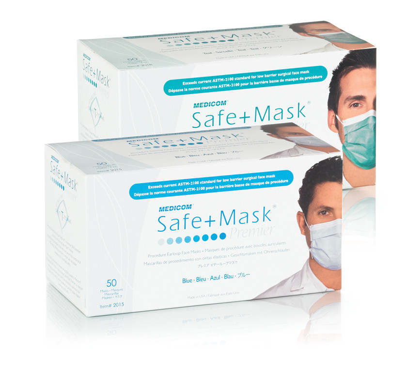 1 Medical Earloop Premier Face Astm Medicom Mask Safemask