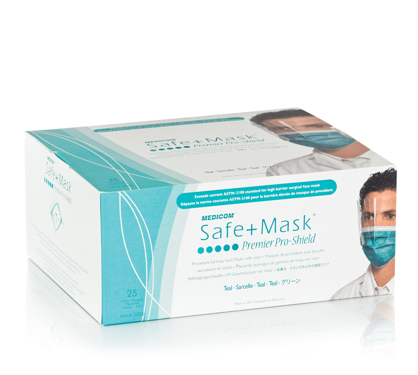 Face Mask Medical Shield Earloop Elite Eye Medicom Premier