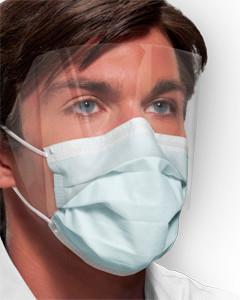 Crosstex Medical Mask Ultra Sensitive Fog Free Earloop Shield GCPWS