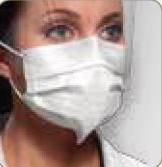 Crosstex Medical Mask Isofluid Fog Free, SecureFit, Shield GCIPWBSF