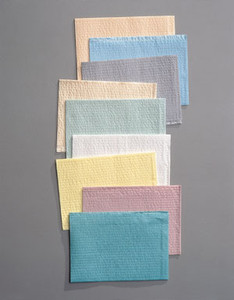 "TIDI Tissue/Poly Towel 3-Ply 17"" x 18"""