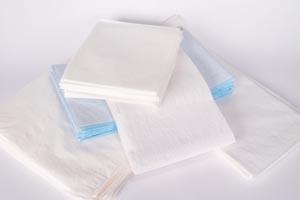 "TIDI Equipment Drape Sheets 40""x72"" Tissue/Poly with Heavier Tissue Blue"