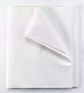 """TIDI Equipment Drape Sheets 60""""x96"""" Tissue/Poly with Stronger Poly White"""