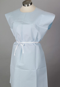 """TIDI Patient Gowns Ultimate 30""""x42"""" Tissue/Poly/Tissue with Opening"""