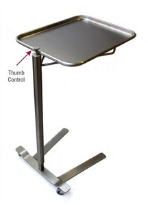 MCM Stainless Steel Mayo Stand Thumb-Controlled Height