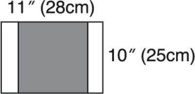 3M Steri-Drape 2 Incise Drape 2037, Incise area 11 inch x 10 inch (28cm x 25cm)