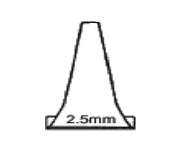 Otrec Disposable Otoscope Specula Pediatric 2.5 mm for Welch Allyn Diagnostic Otoscope