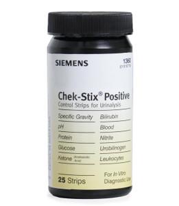 Siemens Chek-Stix Urinalysis Positive Control Strips 1360