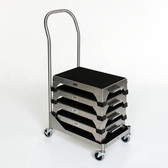 Step Stool Cart with Stools (stools sold separately)