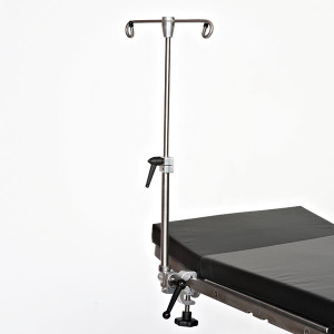 Surgery Table Uni-Pole IV Pole Attachment and Clamp