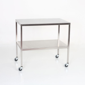 Instrument Table with Shelf-Stainless Steel