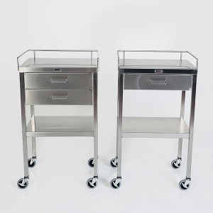 Utility Table with Drawer-Stainless Steel-Single, Double