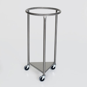 Round Laundry Hamper-Stainless Steel