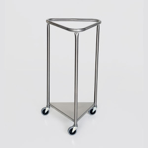 Triangle Laundry Hamper-Stainless Steel