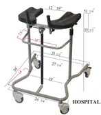 Hospital Pneumatic Walker-Eva Support Walker