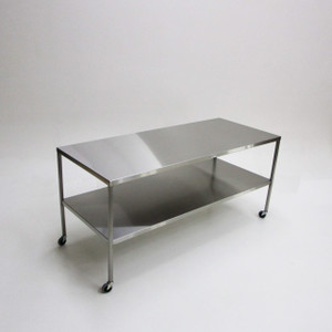 Instrument Table With Shelf-Stainless Steel, Large