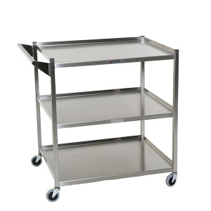 Utility Cart With Shelves - Stainless Steel