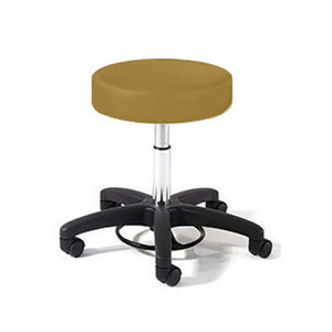 Physician Stool with Foot Ring Adjustment,Black Composite Base