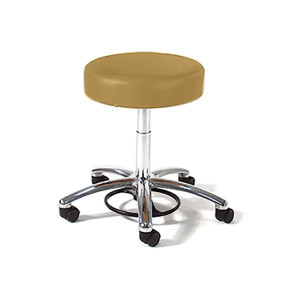 Physicians Stool with Foot Ring Adjustment,Bright Chrome Base