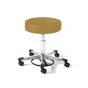 Physician Stool with Foot Ring Adjustment,Aluminum Base