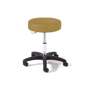 Physician Stool with D Ring Adjustment, Black Composite Base