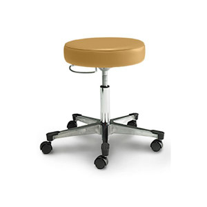 Physician Stool with D Ring Adjustment,Aluminum Base with Toe Caps