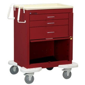 Classic Crash Cart-3 Drawer,12″ Panel