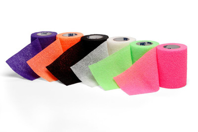 "3M Coban Self-Adherent Wrap 3""x5 yds Neon Assorted Colors 1583N"