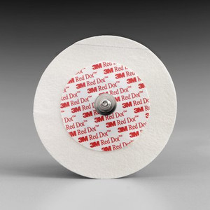 3M Red Dot Monitoring Electrodes with Abrader-Micropore Tape Backing 2249-50