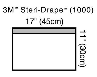 "3M Steri-Drape Small Towel Drape 1000 17""x11"""
