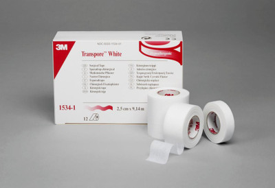 3M Transpore Surgical Tape-White