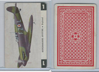 1950 Airplane Playing Cards, #1 Supermarine Spitfire