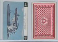 1950 Airplane Playing Cards, #3 Curtiss Hawk IV, China