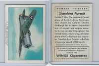 T87 Wings Cigarettes, Series (No Letter Series), 1941,#13 Standard Pursuit