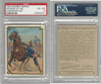 T53 Hassan Cigarettes,  Cowboy Series, 1910, Picking Handkerchief, PSA 4 VGEX