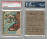 V290 Hamilton, Cowboy Series, 1930's, #20 His Favorite Brand, PSA 2 Good