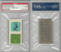 1955 Bowman, Magic Pictures, #107 & 108, PSA 7 NM