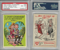1959 Topps, Funny Valentines, #28 I Don't Know What I'd Do, PSA 8 NMMT