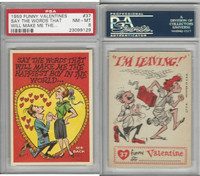 1959 Topps, Funny Valentines, #37 Say the Words That Will, PSA 8 NMMT