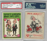 1959 Topps, Funny Valentines, #39 There's Something About, PSA 8 NMMT