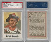 1966 Leaf, Good Guys and Bad Guys, #3 Butch Cassidy, PSA 8 NMMT