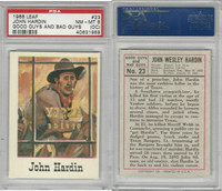 1966 Leaf, Good Guys and Bad Guys, #23 John Hardin, PSA 8 OC NMMT