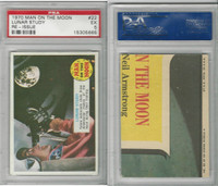 1970 Topps, Man On The Moon, Re -Issue, #22 Lunar Study, PSA 5 EX