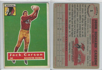 1956 Topps Football, #1 John Carson SP, Washington