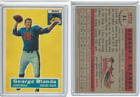 1956 Topps Football, #11 George Blanda HOF, Chicago Bears