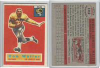 1956 Topps Football, #102 Ron Waller, Los Angeles Rams