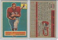 1956 Topps Football, #106 John Olszewski SP, Chicago Cardinals