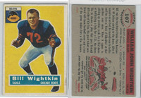 1956 Topps Football, #107 Bill Wightkin, Chicago Bears