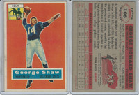 1956 Topps Football, #108 George Shaw, Baltimore Colts