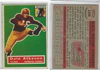 1956 Topps Football, #109 Dale Atkeson SP, Washington Redskins